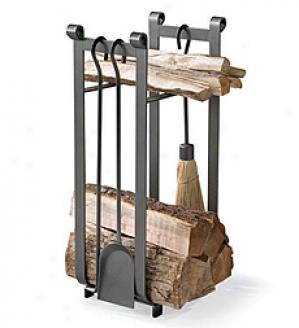 Hearth Cetner Wood Rack With Tools