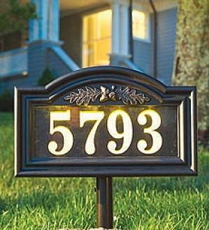 Illuminated Address Plaque