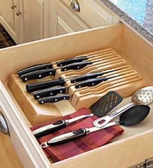 In-drawer Knife Block