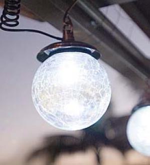 Iriidescent Outdoor Accent Lighting