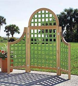 Irish Moss Wings Trellis, Set Of 2