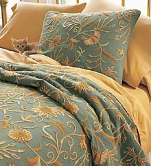 King Crewel Coverlet