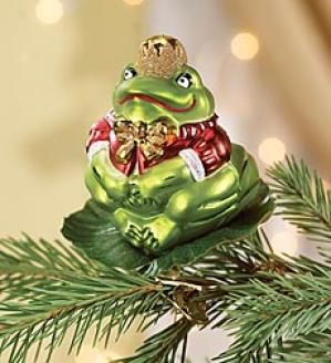 King Frog Ornament