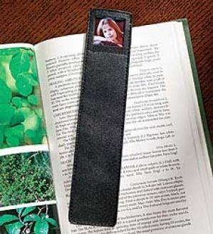 Leather Photo Bookmarker  Black Only