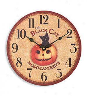 Lil' Black Cat Clock
