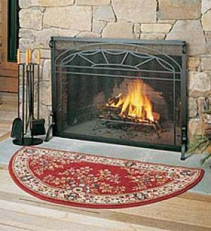 Medium Half-round Hearth Rug (21
