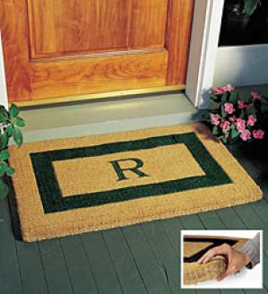 Medium Rextangular Coir Mat  Black Only