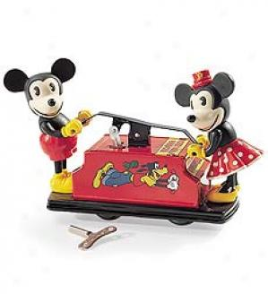 Mickey And Minnie Handcar