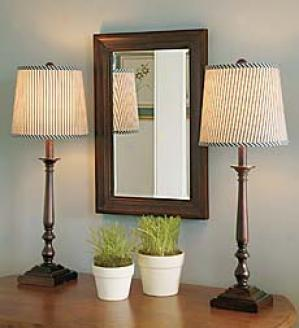 Milwkod Lamp And Mirror Set