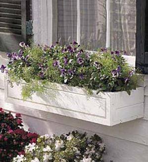 Natural Panel Window Box
