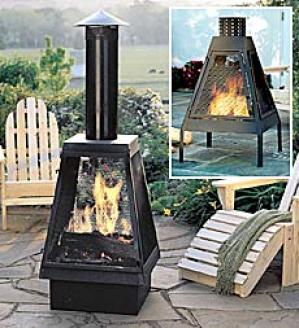 Outdoor Fireplace Windguard