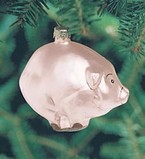 Peppermint Pork Ornament