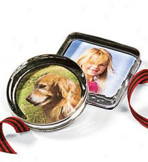 Photo Paper Weight  Round Only