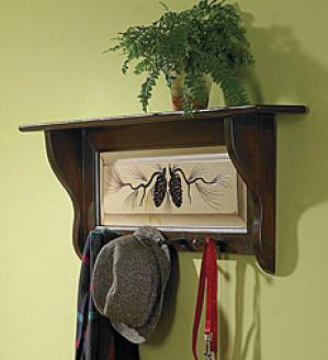 Pine Cone Peg Shelf