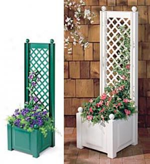 Planter/trellis  White Only
