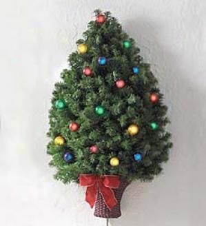 Prelit Wall Tree