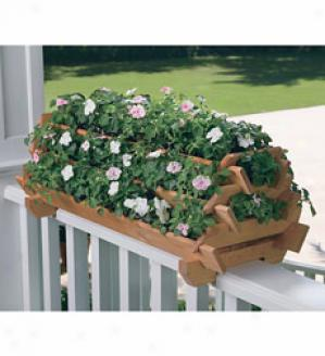 Pyramid Railing Planter