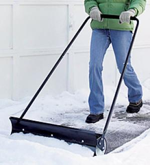 Rolling Snow Shovel