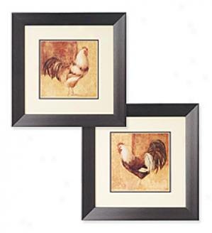Rooster Prints, Set Of 2