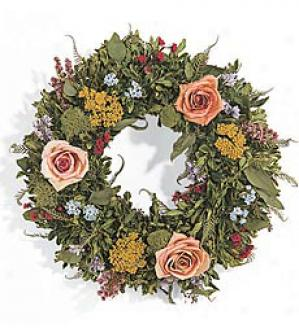 Rose & Yarrow Wreath