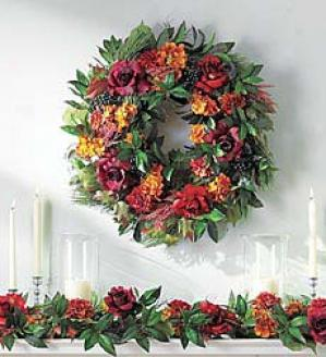 Rose/hydrangea Wreath   24