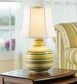 Sage Stripe Lamp