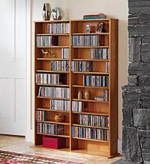 Single Multimedia Storage Rack