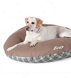 Small Dog Bed Replacement Cover, Rectangle  Green Only