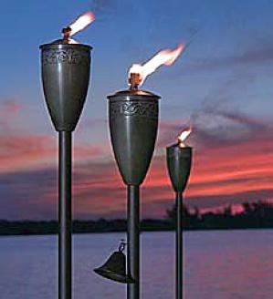 Small  Garden Torches, Set Of 2