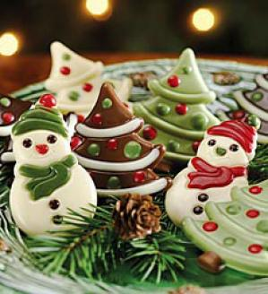 Snowman And Tree Chocolages