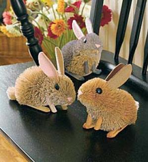 Spring Bunnies, Set Of Three