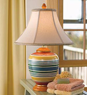 Spring Stripe Porcelain Table Lamp, 150w