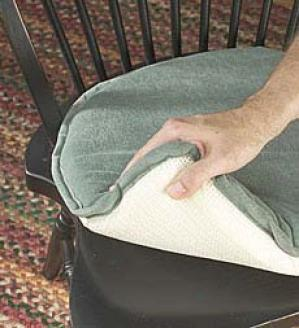 Sueded Chair Cushion  Wedgwood Only