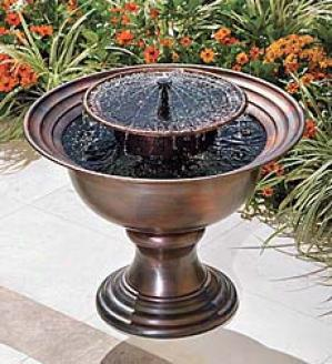 Tabletop Copper Solar Fountain