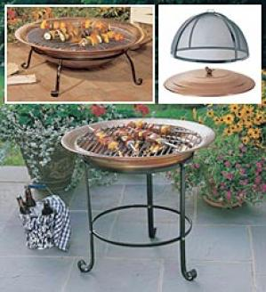 Tall Copper Firepit