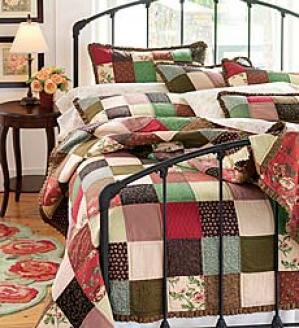 Doubled Mocha Floral Quilt