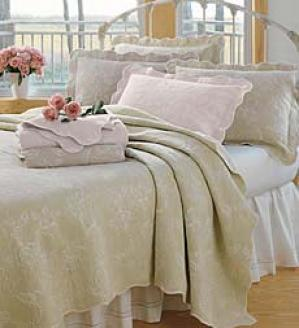 Twin Rose Matelasse Coverlet
