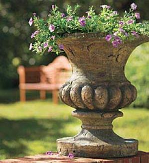 Urn With Solar Lights