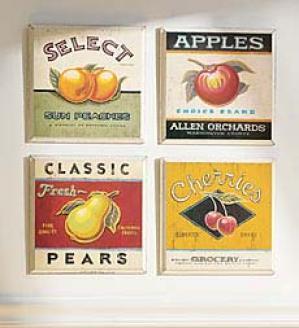 Vintage Peach Print