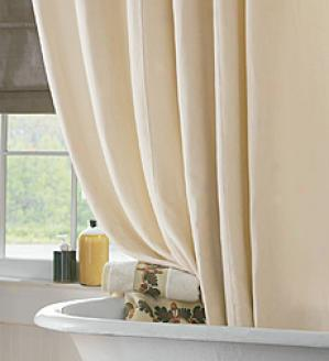 Washable Suede Shower Curtain