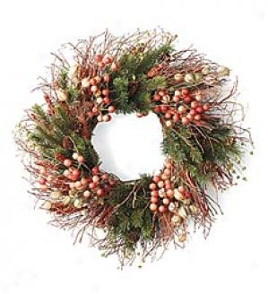 Wheat And Berry Wreath