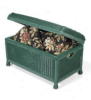 Wicker Trunk  White Only