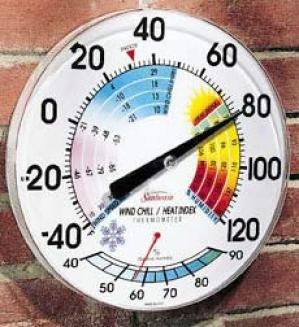 Wind Chill/heat Index Thermmometer