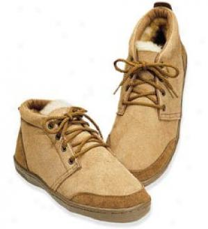 Women's Sheepskin Shoe  Brown Size 08 Only