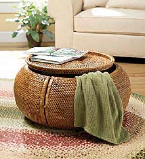Woven Stodage Table