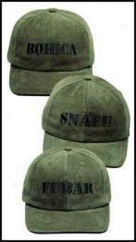 A-team™ Fubar, Snafu, & Bohica Ball Caps