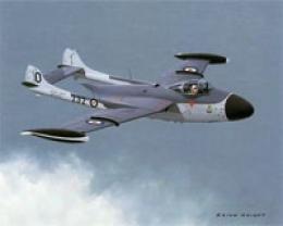 Aircraft Of The Earth Prints British Dehavilland Sea Venom F(am)