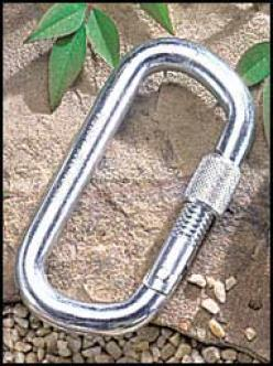 Austri Alpin 12mm Locking Case-harden Modified Oval ''d''' Carabiner