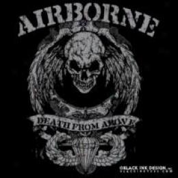 Black Ink Design™ Airborne ?Appearance Skull&auot;