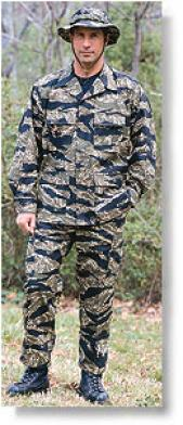 Combat Ready™ Original Vietnam Tiger Stripe™ & Desert Tiger Stripe™ Camo Bdu Pants ~ 100% Cotton Ripspp Poplin